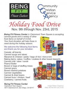 Food Drive Flier