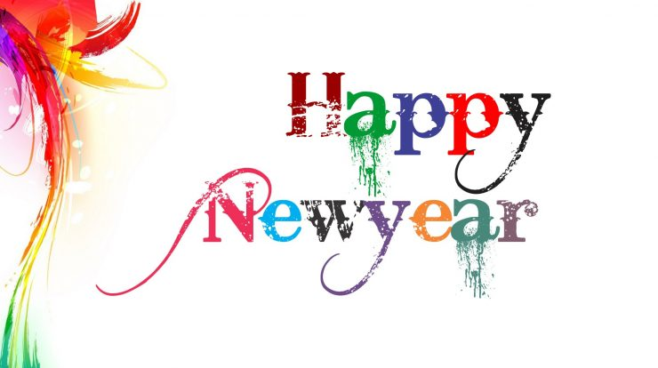 Happy New Year Wallpaper White Background